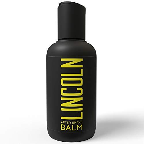 LINCOLN Bálsamo After Shave Hombre con Aloe Vera y Vitamina E - Aftershave For Men, Alivia e Hidrata la Piel - After Shave Balsamo Locion Afeitado, Previene la Irritación - After Shave Natural, 150ml