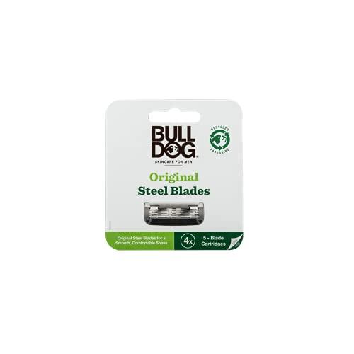 Bulldog - Cuchillas de afeitar de bambú recambio de 4 unidades