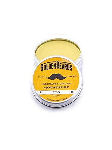 Golden Beards Cera Para Bigote Orgánica y 100x100 Natural – 15 Mililitros Moldea Tu Bigote Con Nuestra Cera Soft/Medium Para Obtener unos Resultados Sorprendentes 15 ml
