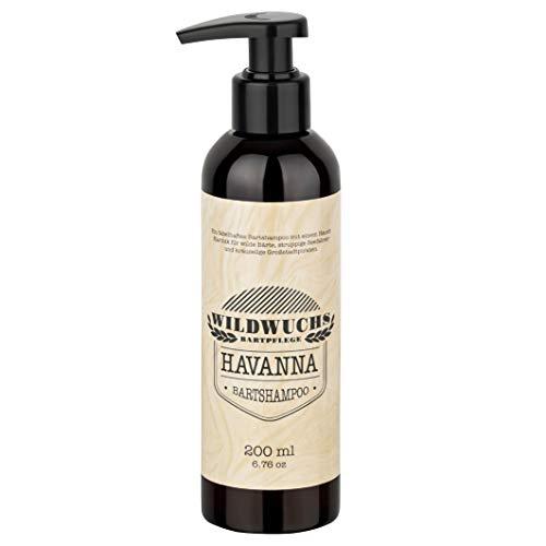 Champú para barba HAVANNA premium (200 ml) para una limpieza suave con aroma caribeño de Wildwuchs Bartpflege Made in Germany