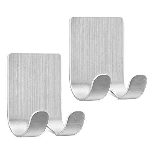 kwmobile 2x Soporte para maquinilla de afeitar con ventosa - Organizadores adhesivos para pegar en vidrio azulejos - plata