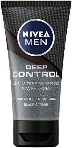 Nivea Men Deep Control - Exfoliante antiespinillas y gel de lavado, 75 ml