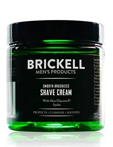 Brickell Men's Products – Crema de Afeitar Suave Sin Brocha para Hombres - Natural y Orgánica (Sin fragancia) – 147 ml