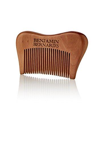 Superior Wooden Beard Comb by Benjamin Bernard: Anti-Static & No Snag – Perfect for Beard Oils and Balms – 9cm*5cm