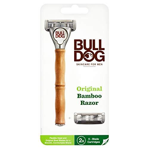 Bulldog Skincare Maquinilla de Afeitar Sostenible de Bambú Original + 1 Cabezal Extra