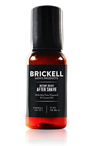 Brickell Men's Products – Loción para Después de Afeitar Alivio Instantáneo para Hombre – Natural y Orgánica (Sin fragancia) – 59 ml