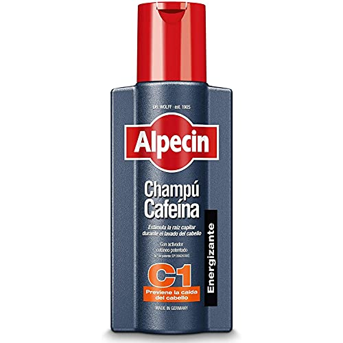 Alpecin Champú Cafeína C1 1x 250ml | Champu anticaida hombre y con cafeina | Tratamiento para la caida del cabello | Alpecin Shampoo Anti Hair Loss Treatment Men