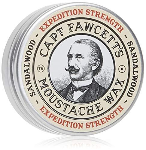 CAPTAIN FAWCETT Cera de bigote extra fuerte Sándalo 15 ml