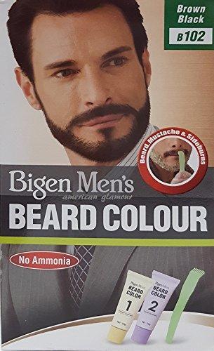Bigen Men's Beard Colour – Tinte para barba marrón y negro 102