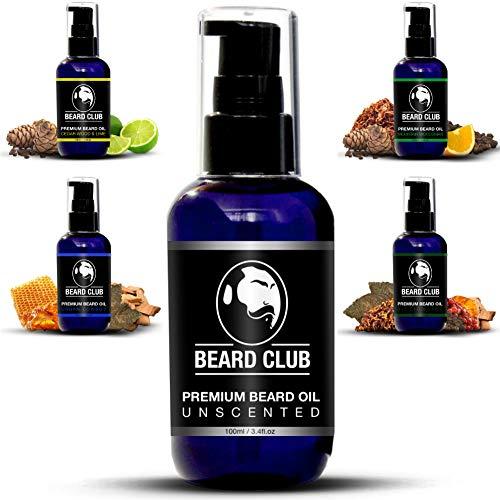 Aceite Para Barba Premium - Sin Perfume 100ml | Deja tu Barba Suave, Sin Picor y Sin Escamas, Ayuda a su Crecimiento | Acondicionador Para Hombre Potente 100% Natural Para Barba