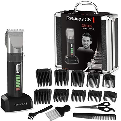Remington Genius Máquina de Cortar Pelo - Cortapelos con Cable e Inalámbrico, Cuchillas de Cerámica Avanzada, 10 Peines, 50 min Autonomía Negro - HC5810