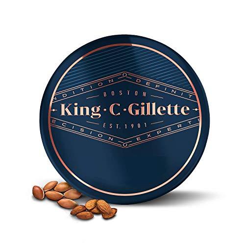 King C. Gillette Bálsamo Barba Hombre con Manteca de Cacao, Aceite de Argán y Manteca de Karité, 100 ml
