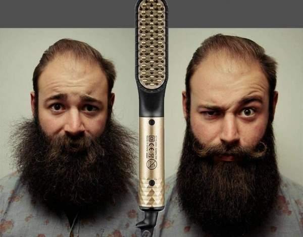 como alisar la barba
