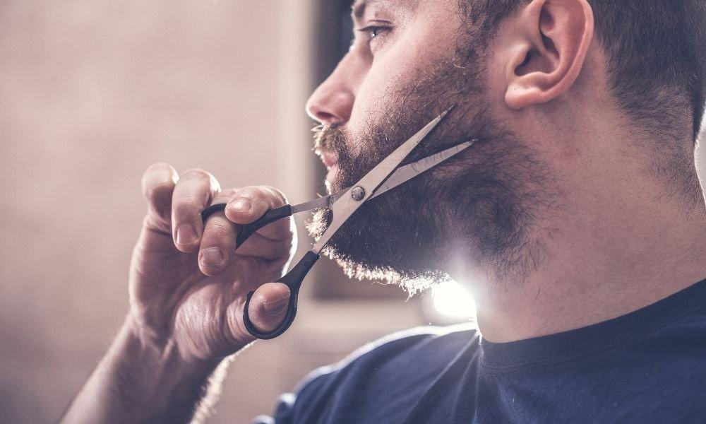 cortar barba con tijeras