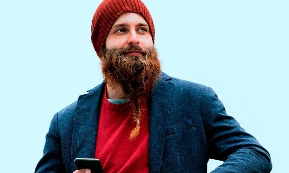 Barba trenzada de vikingo clásica